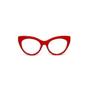 Armação para óculos de Grau Gustavo Eyewear G65 11. Cor: Vermelho opaco. Haste animal print.