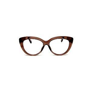 Armação para óculos de Grau Gustavo Eyewear G107 2. Cor: Marrom translúcido. Haste animal print.
