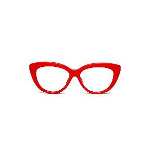 Armação para óculos de Grau Gustavo Eyewear G107 7. Cor: Vermelho opaco. Haste animal print.