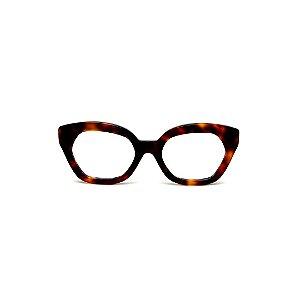 Armação para óculos de Grau Gustavo Eyewear G70 1. Cor: Animal print. Haste animal print.