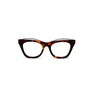 Armação para óculos de Grau Gustavo Eyewear G69 U. Cor: Animal print. Haste animal print.
