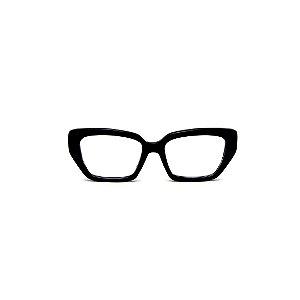 Armação para óculos de Grau Gustavo Eyewear G51 7. Cor: Preto. Haste animal print.