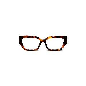 Armação para óculos de Grau Gustavo Eyewear G51 9. Cor: Animal print. Haste animal print.