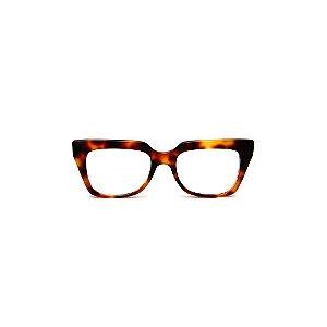 Armação para óculos de Grau Gustavo Eyewear G49 3. Cor: Animal print. Haste animal print.
