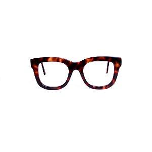 Armação para óculos de Grau Gustavo Eyewear G57 2. Cor: Animal Print. Haste animal print.