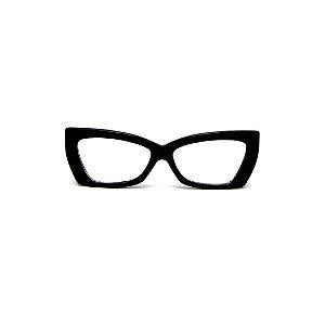 Armação para óculos de Grau Gustavo Eyewear G81 5. Cor: Preto. Haste animal print.