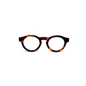 Armação para óculos de Grau Gustavo Eyewear G29 16. Cor: Animal print. Haste animal print.