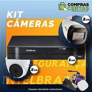 Kit 4 câmeras Intelbras com DVR HDCVI