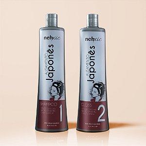 Kit Alisamento Japonês Shampoo + Gloss
