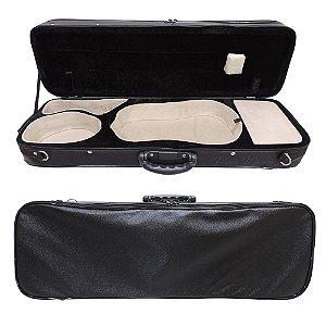 Estojo Case Retangular Violino 4/4 Dtarciz Soloist Preto e Creme