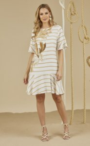 T-DRESS LISTRA ALGAS