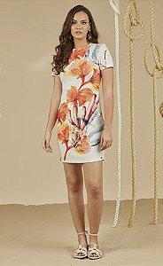T-DRESS DE MALHA MAXI CORAL