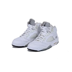 TÊNIS AIR JORDAN 5 METALLIC WHITE - USADO