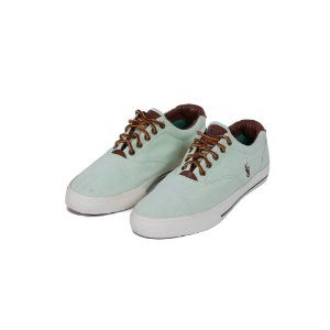 TÊNIS POLO RALPH LAUREN CANVAS LIGHT GREEN - USADO