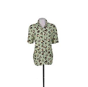 CAMISA VERDE ESTAMPADA BAW CLOTHING - USADO