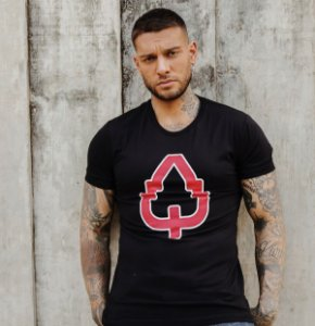 CAMISETA LONG ESTAMPADA BLACK LOGO OAK