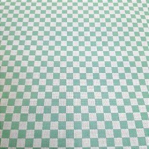 Tecido Xadrez 100% Algodão para Bordar Verde 1,40mt de Largura
