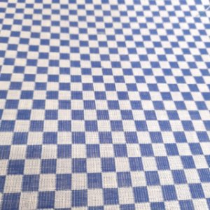 Tecido Xadrez 100% Algodão para Bordar Azul 1,40mt de Largura