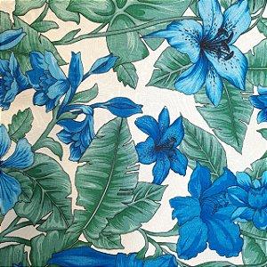 Jacquard Estampado Folhas e Flores 1,40mt de Largura