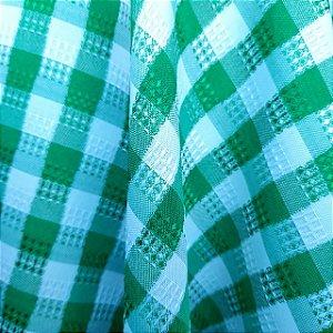 Oxford Xadrez Trabalhado Verde 1,50mt de Largura