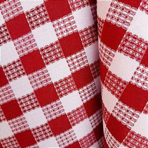 Oxford Xadrez Trabalhado Vermelho 1,50mt de Largura