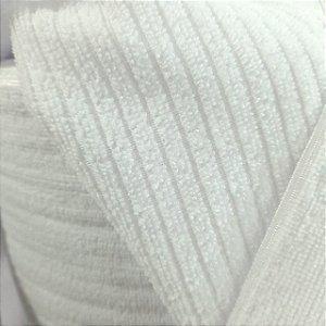 Atoalhado Microfibra Canelado Branco 1,40mt de Largura
