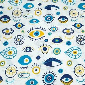 Tricoline Estampado Olhos 1,50mt de Largura