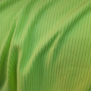 Malha Canelada Cor Verde Limão 1,50mt de Largura