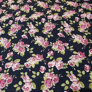 Tricoline Estampado Floral 1,50mt de Largura