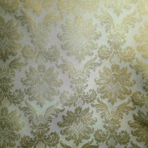 Jacquard Atlanta Lurex Branco/Dourado 2,80mt de Largura