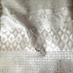 Plástico Térmico 200 Metalizado Prateado Barrado 1,40mt de Largura