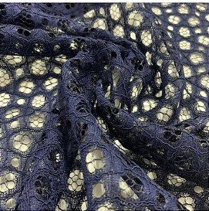 Renda Rope Lace cor Azul Marinho 1,50mt de Largura