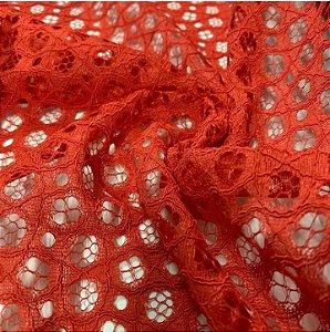 Renda Rope Lace cor Vermelho Claro 1,50mt de Largura