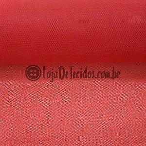 Tule Liso Vermelho 2,40m de Largura