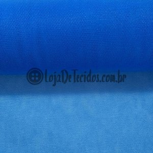Tule Liso Azul Bic 2,40m de Largura
