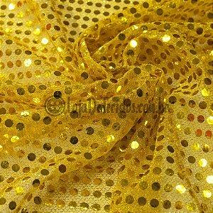 Paetê Amarelo 1,12m de Largura