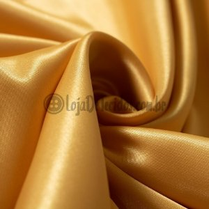 Cetim Liso Dourado 1,47mt de Largura