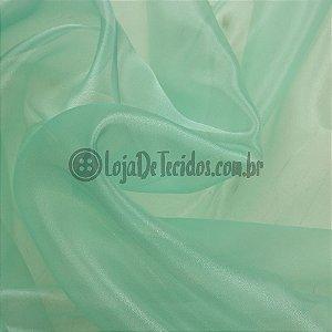 Organza Cristal Verde Água 1,50m de Largura
