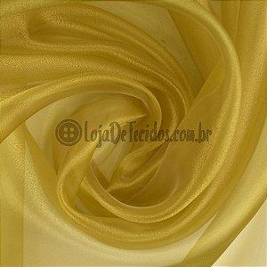 Organza Cristal Amarelo 1,50m de Largura