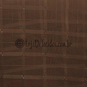Voil Trabalhado Transparente Marrom 3m de Largura