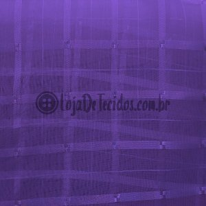 Voil Trabalhado Transparente Roxo 3m de Largura