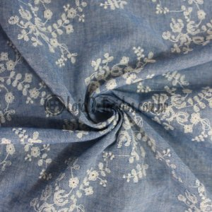 Chambray Bordado Jeans 1,50m de Largura