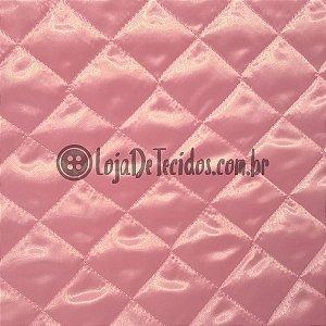 Matelassê Failete Rosa 1,40m de Largura