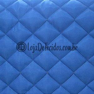 Matelassê Failete Azul Royal 1,40m de Largura