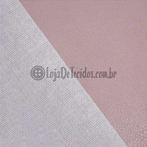 Couro Ecológico Liso Rosé 1,40m de Largura