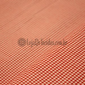 Tricoline Estampado Xadrez Vermelho e Branco