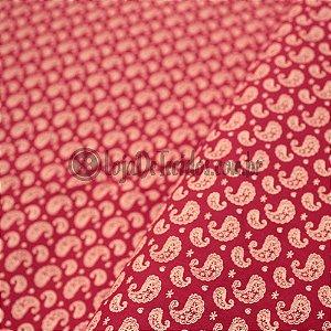 Tricoline Estampado Kashmir Rosa Pink