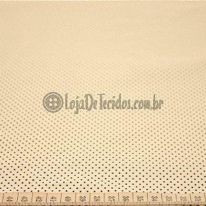 Tricoline Estampado Poá Pequeno Preto e Branco
