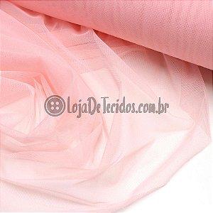 Tule Ilusion Liso Rosa 1,50m de Largura