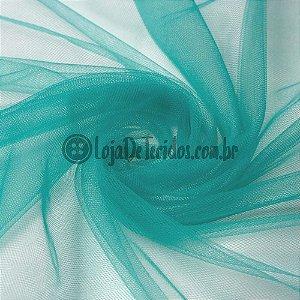 Tule Ilusion Liso Verde Jade/Tifanny 1,50m de Largura